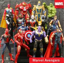 Endgame 4 Final Do Jogo Figuras de Ação da Marvel Avengers Capitão Marvel Ironman Spiderman Estatueta Pantera Negra Thanos Antman Brinquedo Thor(China)