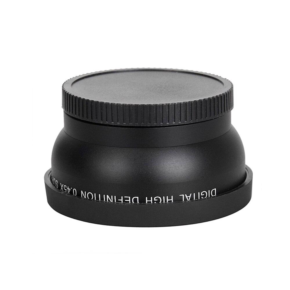 Andoer 0.45x HD Grand Angle avec Macro pour Canon Nikon Sony Pentax 58mm Camera Lens Haute Qualité caméra accessoires