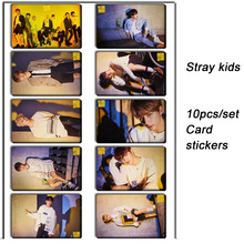 цена на 10pcs/set Stray kids KPOP photo cards stickers album sticky adshesive kpop Stray kids lomo card photocard sticker SKD00712