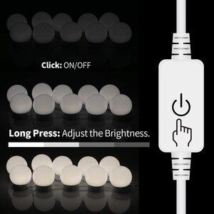 CanLing LED 12 V مرآة لوضع مساحيق التجميل ضوء لمبة هوليوود الغرور أضواء ستبليس عكس الضوء الجدار مصباح 6 10 14 لمبات عدة ل خلع الملابس الجدول