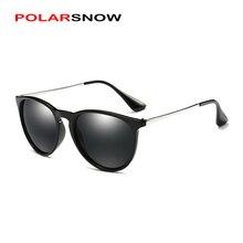 Polarsnow сплав + PC Одежда высшего качества поляризационные Защита от солнца Очки Для женщин Брендовая Дизайнерская обувь 2017 Круглый Мода Солнцезащитные очки для женщин Зеркало Объектив Óculos
