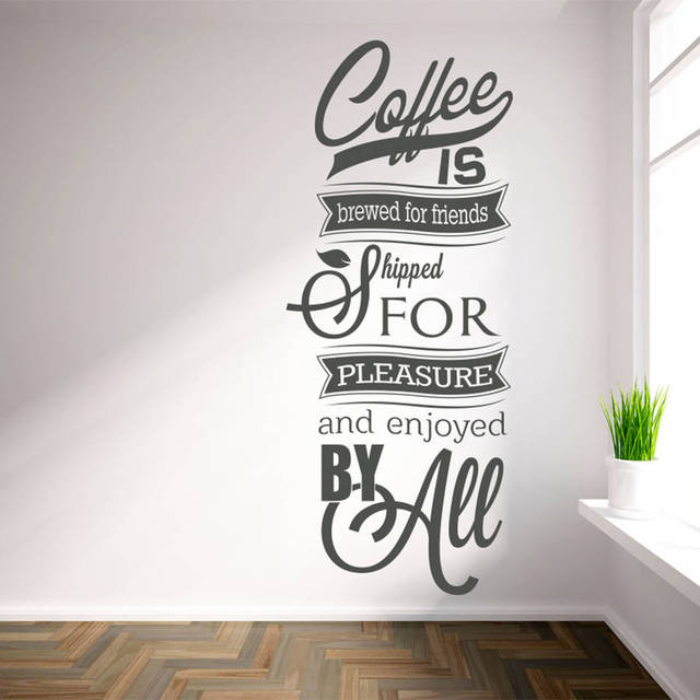 Charmant Available In Numerous Sizes Wall Decals U0027Coffee Is Brewed For Friends...u0027