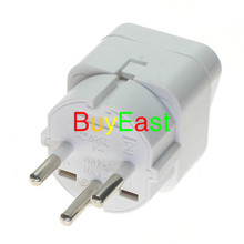 ФОТО 5 x   israel palestine travel plug adapter universal outlet israeli 3 pin grounded plug adaptor white color
