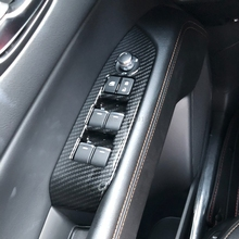 Автомобильные аксессуары для Mazda CX-5 CX5 KF 2017 2018 2019 интерьер углеродного волокна окна лифт переключатель Крышка отделка внутри подлокотник