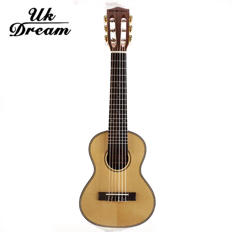UJ-513 Six string Acoustic guitar 28 inch Ukulele Wooden Classical 18 tone Guitars mini travel Guitar Instruments guitalele hercules gs301b travelite acoustic guitar portable travel mini steel stand