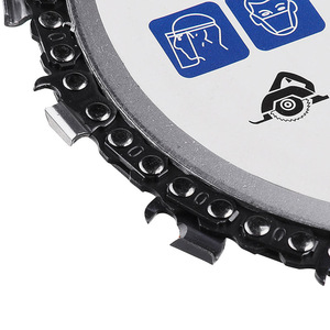 Image 5 - 5 インチグラインダーチェーンディスクアーバー 14 歯木材彫刻のための 125 ミリメートル角グラインダー ALI88