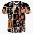 Summer women/men Bob Marley print 3d t shirt hip hop t-shirt Harajuku short sleeve top shirts plus size M-XXL Drop Shipping