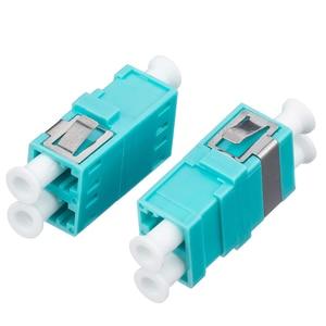 Image 4 - 50Pcs/Bag,Fiber Optic LC/UPC MM OM3 SC Type Duplex Flange Coupling Carrier Class Fiber Adapter Coupler