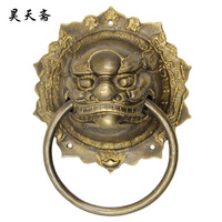 [Haotian vegetarian] copper beast handle / copper handicrafts / Ming and Qing antique furniture, copper / Chinese pieces HTA 006