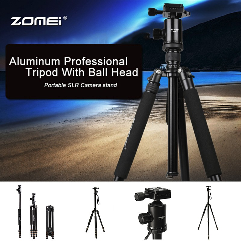 Zomei Z688 Aluminum Professional Tripod Monopod with 360 degree Ball Head For DSLR camera Portable / Camera SLR stand new zomei q688 aluminum professional tripod monopod ball head for dslr camera portable slr camera stand