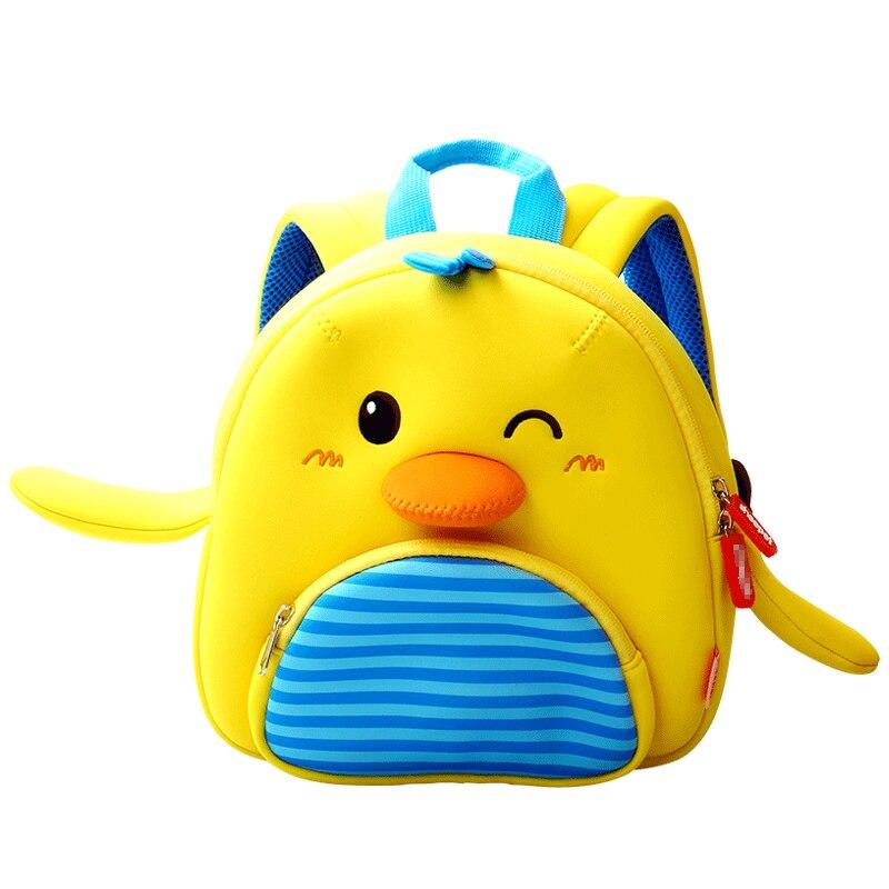 Cute 3D Little Yellow Chick School Backpacks For Girls Kindergarten Kids Schoolbag Toddler Boys School Bags Mochila Escolar