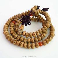 BRO995 Tibetan 108 Starmoon Bodhi Seeds Rosary 7 5mm Beige White Bodhi Seeds Prayer Beads Malas