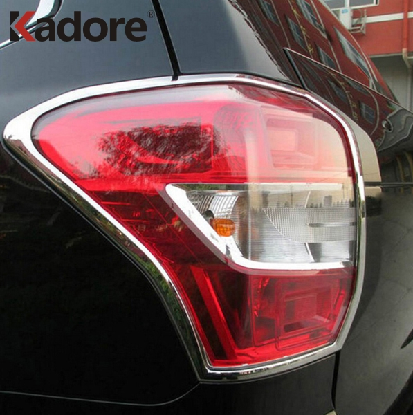 For Subaru Forester 2013 2014 ABS Chrome Rear Tail Light Lamp Cover Trims Decoration Frame Car