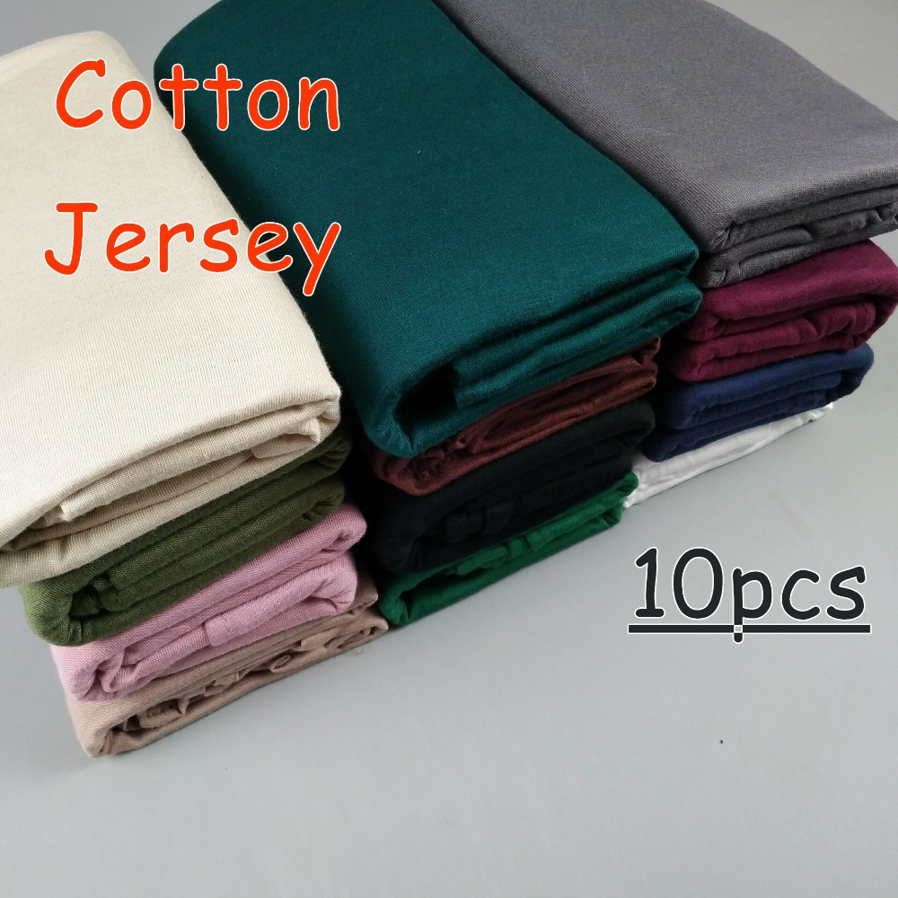 Z1 High quality cotton Jersey shawl hijab long   scarves     scarf   women   wrap   headband 180*80cm 10pcs/lot