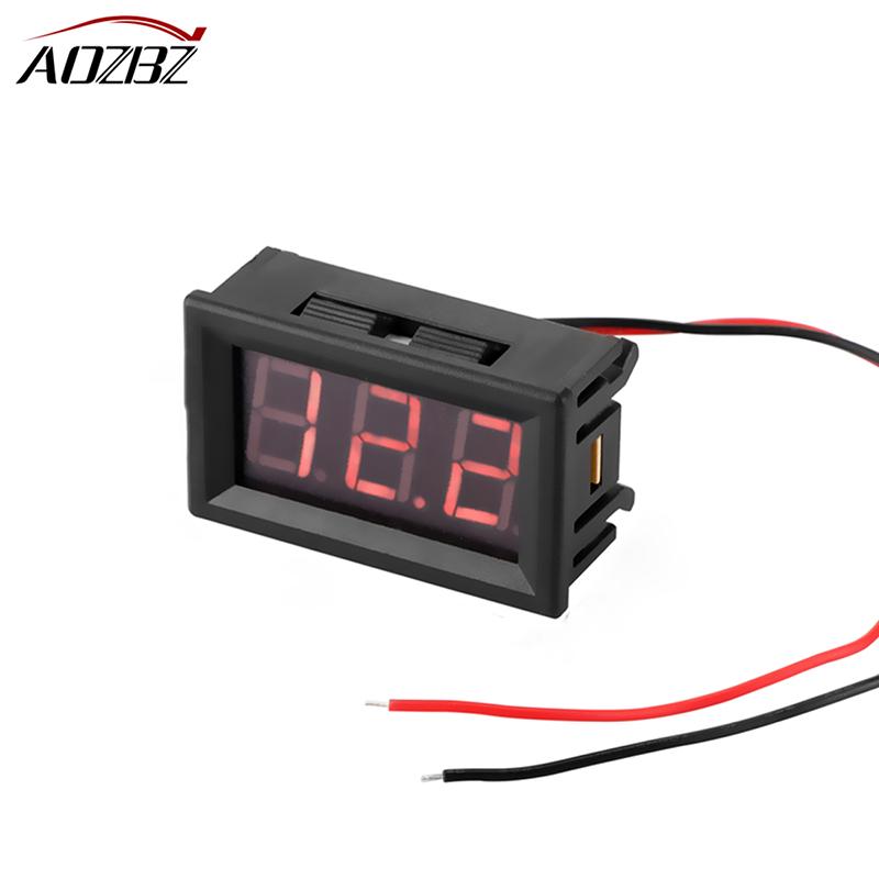 US $1 58 20% OFF AOZBZ Mini Car Digital Voltmeter Detector 0 56