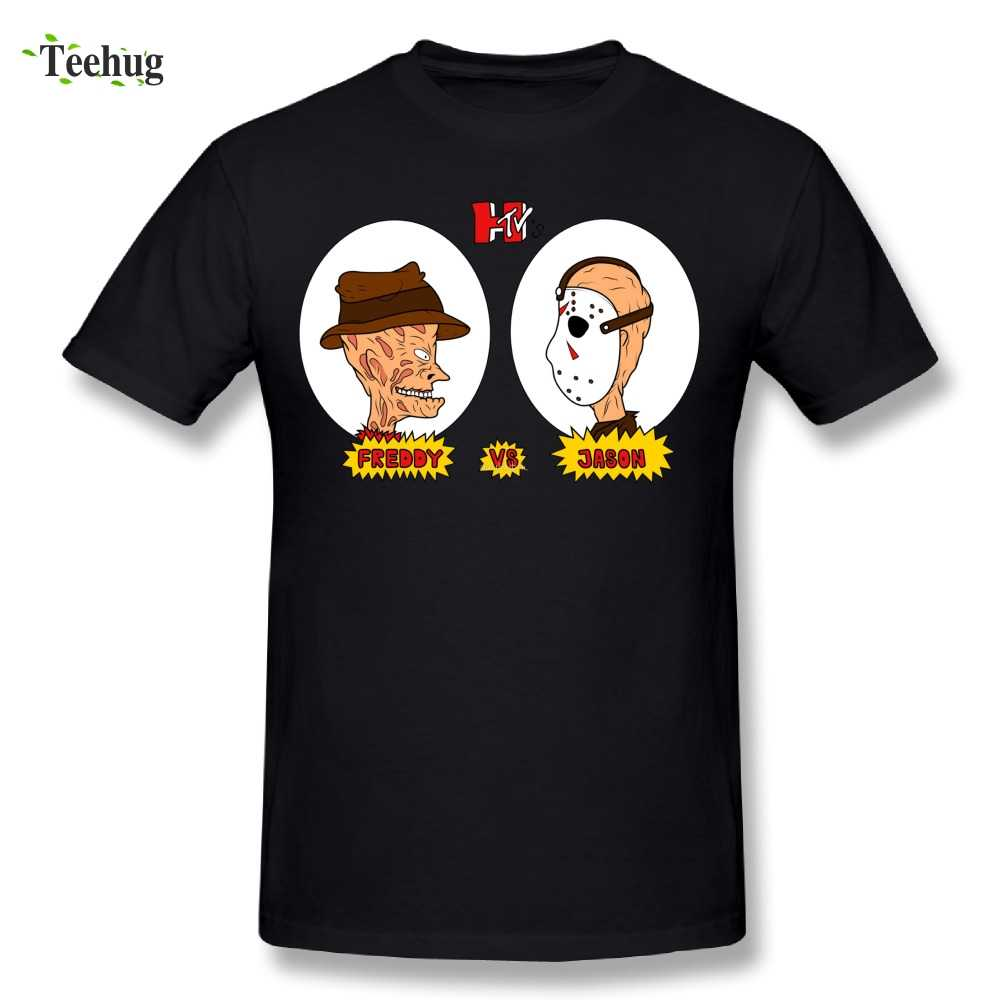 Grafische Jongen Horror TV Freddy vs Jason T-Shirt Vrijdag de 13th Ronde Hals Ontwerp Beavis And Butthead T-shirt
