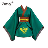Women's Dress The Legend of Zelda Cosplay Anime Game Apparel Exhibition Performance Skirt Bow Robe