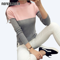 2016 High Elastic Turtleneck Women Sweaters And Pullovers Female Spring Autumn Tricot Knitted Sweater Jumper Pull