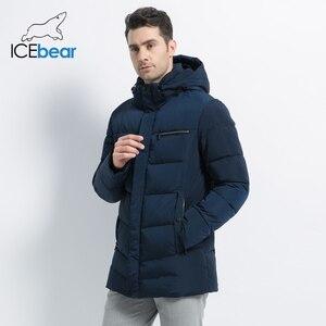 Image 2 - 2019 nouveaux hommes manteau dhiver de haute qualité homme veste mode vêtements pour hommes chaud mâle Parka MWD19835D