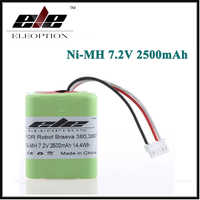 Bateria recarregável de eleoption 2.5ah 2500 mah ni-mh 7.2 v para irobot roomba braava 380 380 t