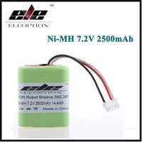 Eleopción 2.5Ah 2500mAh Ni-MH batería recargable de 7,2 V para iRobot Roomba Braava 380 de 380T