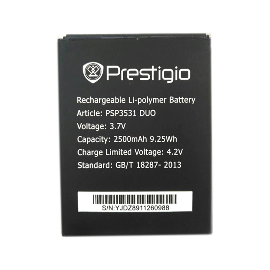 WISECOCO NEW 2500mAh Battery For Prestigio Muze D3 PSP3530 DUO E3 PSP3531 DUO Muze A7 PSP7530 PSP3532 Cellphone +Tracking Number image