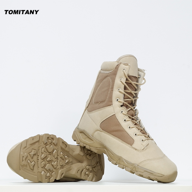 88475d746e5 US $32.51 56% OFF|Hiking Outdoor Shoes Men Waterproof Military Tactical  Boots Man Camping Trekking Climbing Boot Mountain Hunting Sneakers-in  Hiking ...