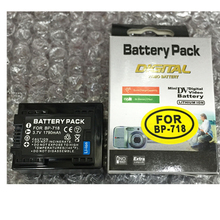 BP-718 BP-727 lithium batteries BP 718 BP727 Digital camera battery For Canon VIXIA HF M50 M52 M500 R32 R300