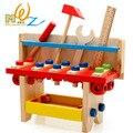 Envío libre de Los Niños/niños TABLA de HERRAMIENTAS de juguete clásico de madera ROMPECABEZAS juguetes educativos/Juguetes Herramienta