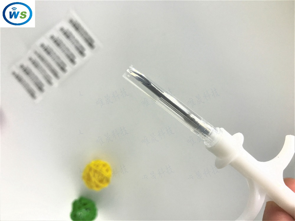 5PCS 2.12*12mm FDX-B ISO11784/785 RFID Injector Pet Glass Tag Microchip Syringe For Pig Cow Cattle  Horse Dog Fish Animal Chip