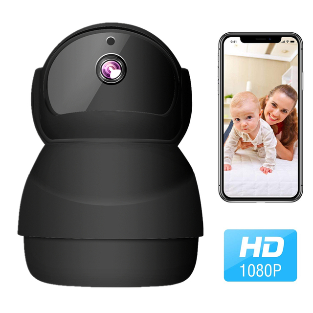Smart Baby Monitor Camera, Security Surveillance Camera Wireless WiFi Camera 1080P HD Home Video Security CCTV Mobile Detection Night Vision Camera Two-Way Audio intercom Support SD Card.