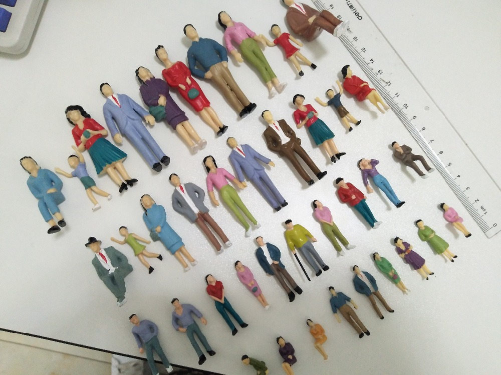 1/25-50 scale architectural model making figures people HO model train layout ...