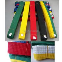 Free Shipping Standard Taekwondo Road With Divisa Level Belt Taekwondo Belt Tkd Belt Martial Arts Karate