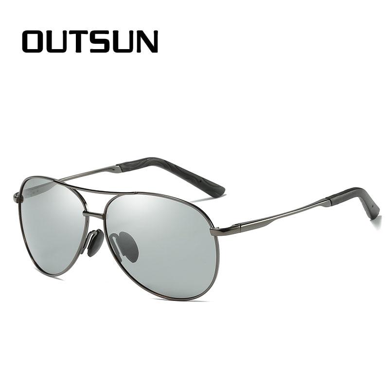 56e286ec8c OUTSUN Photochromic Sunglasses Polarized Men Women Driving Fishing Sun  glasses Alloy Frame UV400 Polaroid Oculos De Sol-in Sunglasses from Apparel  ...