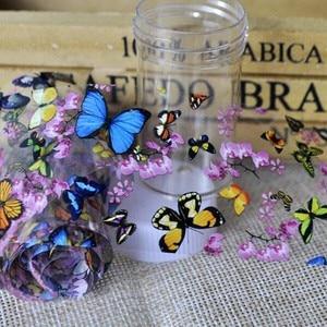 Image 4 - 1 Bottle Nail Art Transfer Foils Nail Sticker Tip Decal Decoration Design DIY Butterfly Plum Flower Manicure Tools