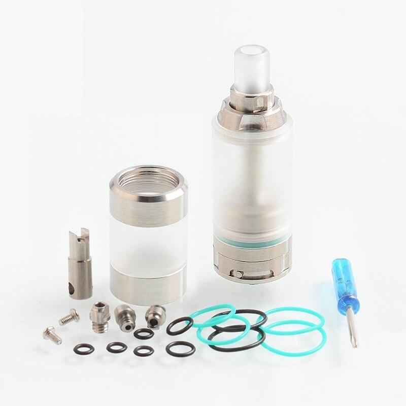 KA V8 RTA 22mm 5 ml atomiseur de réservoir reconstructible 510 fil 316 SS E cigarette RTA Vapozier réservoir avec deux poteaux construire pont