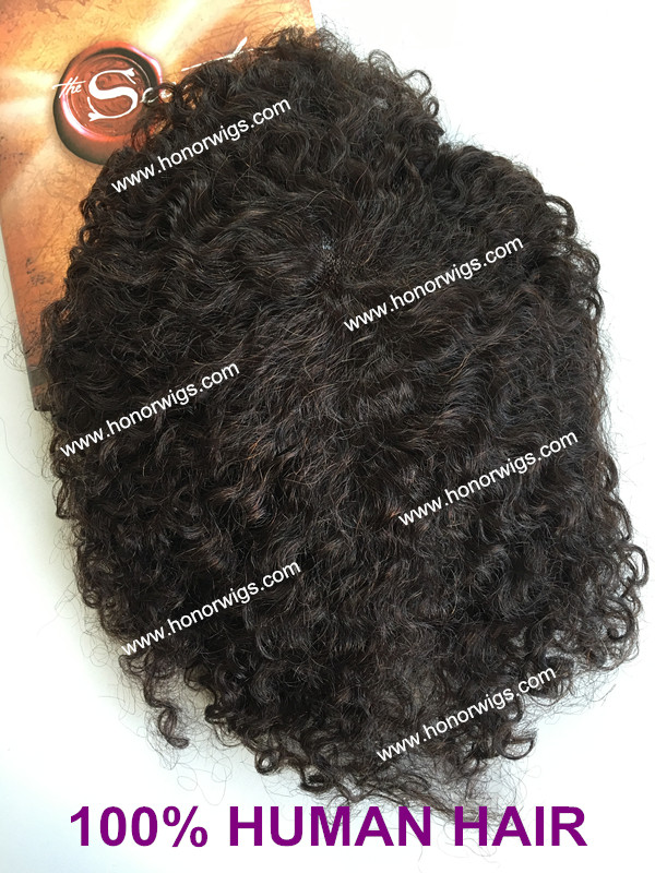 natural black hair color men's toupee 10inch 6x8base size stock fast shipping HT337 swiss lace africa curl thin skin