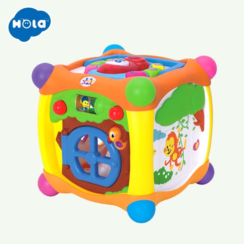 HUILE jouets 936 enfants activité Alphabet Cube bébé jouer jouet 13 blocs empilables apprentissage bébé enfant en bas âge musique jeu jouets cadeaux - 6