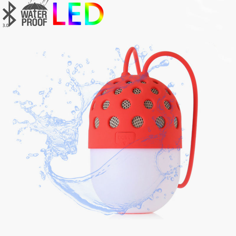 PORTABLE <font><b>LED</b></font> LIGHT WIRELESS BLUETOOTH SPEAKER IPX4 OURDOOR WATERPROOF MINI BLUETOOTH SPEAKER WITH HANDS FREE FOR SMART PHONES
