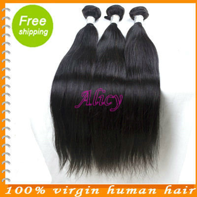 Wholesale virgin mongolian remy straight hair weave 100% unprocessed full cuticle 3 bundles lot free shipping