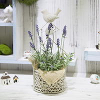 ZAKKA Simulation Succulent European Metal Technology Flowerpot Microlandschaft Iron Art Bird Pot Culture Office Home Decor