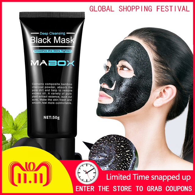 Charcoal Mask for Blackhead Removal & Deep Cleansing