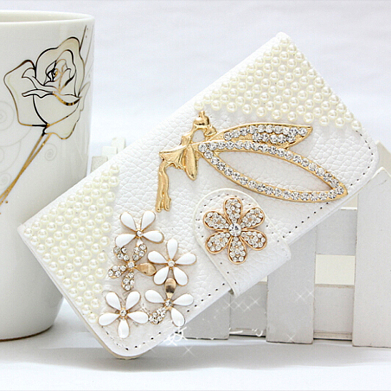 New Luxury Golden crown Pearl diamond flower High quality PU leather Case for Lenovo Vibe X2 (X2-TO) mobile phone Bags