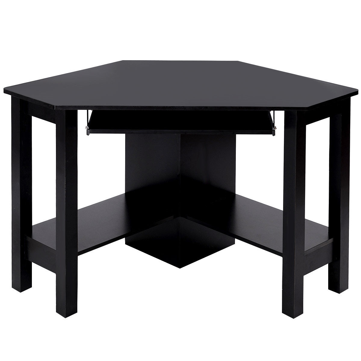office computer tables. Giantex Wooden Corner Desk With Drawer Modern Office Computer PC Table Black Study Home Furniture HW54812BK-in Laptop Desks From On Tables L