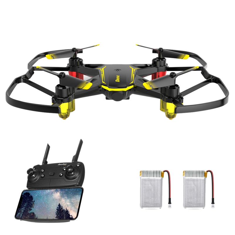 Global Drone Gw66 Mini Drone Helicopter Fpv Drone Hover Lift 360° Rotation One-Button Return Remote Drone - 2 Battery(China)