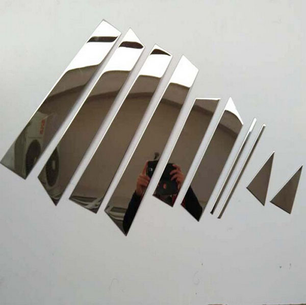 For Nissan QASHQAI 2015 Stainless Steel Window Pillar Trim Car Styling Sticker Accessories 10pcs Free Shipping