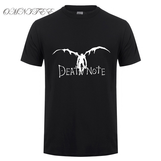 Death Note Men Short Sleeve Cotton T-shirt