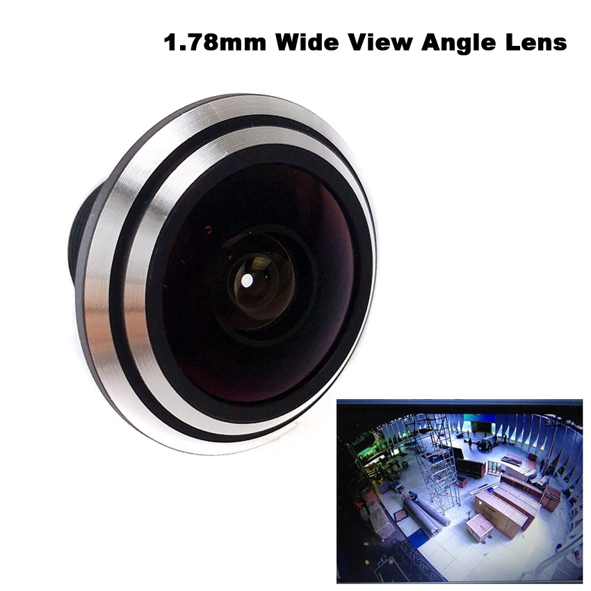 Fish Eye View 1/3inch Mini Lens 1.78 Mm Ultra Wide Angle For CCTV IR HD AHD TVI 1080P Wireless Network Night Vision Camera