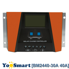 PWM 30A 40A Solar Charge Controller 12V 24V Auto With LCD Current Display USB Output Solar Panel Regulator PV Home Solar System pwm 10a 20a 30a solar charge controller 12v 24v auto with lcd display usb output solar cell panel regulator pv home solar system