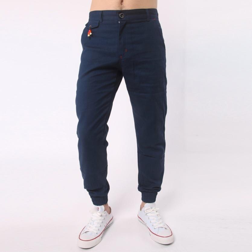 Men Trousers Harem Sweatpants Slacks Casual Jogger Sportwear Baggy Comfy Pant